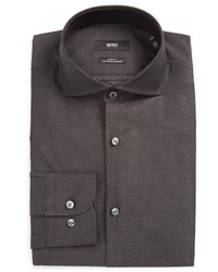 BOSS Jerrin Slim Fit Print Dress Shirt