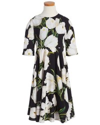 Dolce & Gabbana Girls Dolcegabbana Floral Print Dress