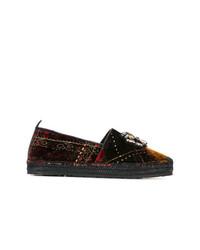 Etro Embellished Plaid Loafers