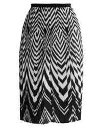 Anna Field Pleated Skirt Blackwhite