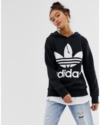 adidas Originals Adicolor Trefoil Hoodie In Black