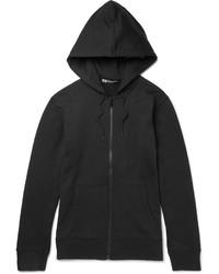 Y-3 Printed Loopback Cotton Jersey Zip Up Hoodie