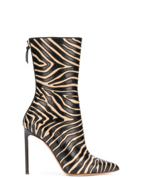 Francesco Russo Animal Print Ankle Boots