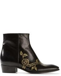 Jean-Michel Cazabat Floral Print Ankle Boot