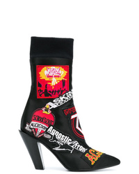A.F.Vandevorst Patch Appliqud Ankle Boots