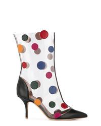 Malone Souliers Polka Dot Stiletto Boots
