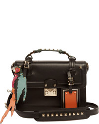 Valentino Block Lock Rockstud Leather Cross Body Bag