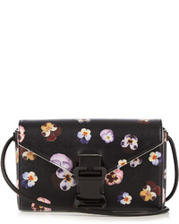 Christopher Kane Devine Ditsy Pansy Large Leather Cross Body Bag