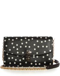 Dolce & Gabbana Polka Dot Print Leather Cross Body Bag