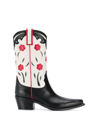 Semicouture Floral Cowboy Boots