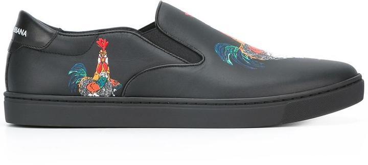 London slip-on sneakers - Black Dolce & Gabbana p43LScui