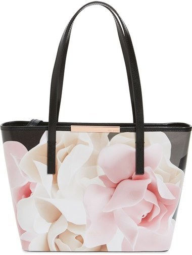 87f04410ce020 ... Bags Ted Baker London Small Porcelain Rose Joanah Printed Leather  Shopper ...
