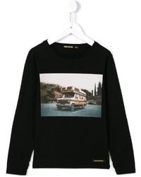 Black Print Long Sleeve T-Shirt