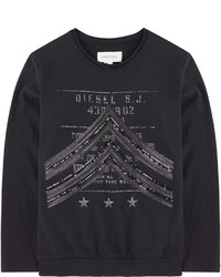 Black Print Long Sleeve T-Shirt