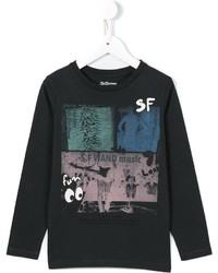 Bellerose Kids Long Sleeve Printed T Shirt