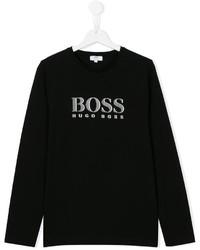 Boss Kids Logo Print T Shirt