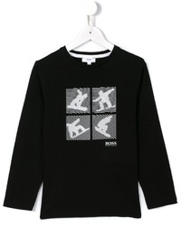 Boss Kids Snowboarder Print T Shirt