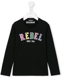 DSQUARED2 Kids Embellished Rebel Print T Shirt