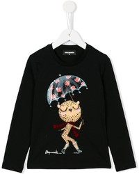 DSQUARED2 Kids Tiger Umbrella Print T Shirt
