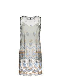 Comme Des Garçons Vintage Sheer Embroidered Dress