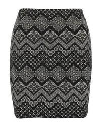 Even&Odd Mini Skirt Blackwhite