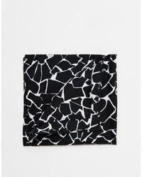 Asos Brand Pocket Square With Giraffe Print In Black