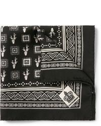 Dolce & Gabbana Cactus Print Silk Twill Pocket Square