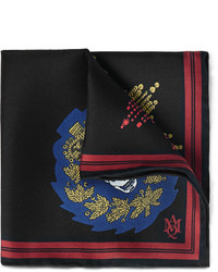 Alexander McQueen Printed Silk Twill Pocket Square