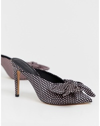 ASOS DESIGN Poppy Pointed High Heel Mules With Bow