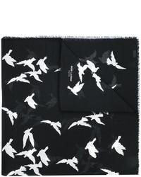 Saint Laurent Bird Print Scarf
