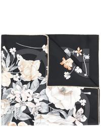 Salvatore Ferragamo Gancio Floral Print Scarf