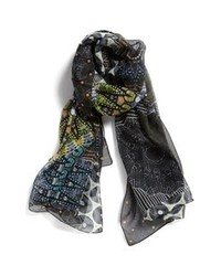 Nordstrom Graphic Print Scarf Black One Size One Size