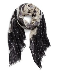Hinge Patchwork Print Scarf Black One Size One Size