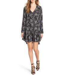 Leith Floral Print Flounce Skirt Shift Dress