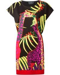 Salvatore Ferragamo Giraffe Print Shift Dress