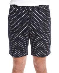 Black Print Shorts