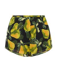 Marc Jacobs Printed Crepe De Chine Shorts