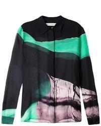 Gala emira emerland landscape print blouse medium 33294