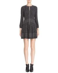 Burberry Jessica Print Mulberry Silk Fit Flare Dress