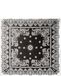 Givenchy Printed Silk Charmeuse Scarf Black