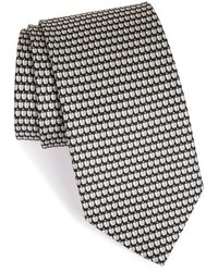 Salvatore Ferragamo Apple Print Silk Tie