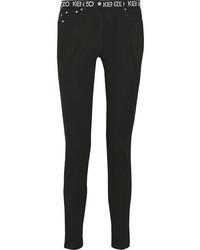 Printed mid rise skinny jeans black medium 1251676