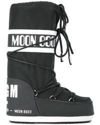 MSGM Logo Print Snow Boots