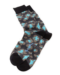 Black Print Socks