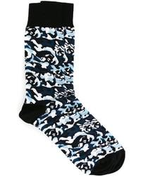 Alexander McQueen Camouflage Intarsia Socks