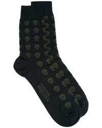 Alexander McQueen Skull Intarsia Socks