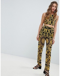 Love & Other Things Scarf Print Trouser
