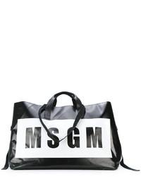 MSGM Oversized Logo Print Tote