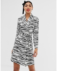 UNIQUE21 Zebra Print Wrap Dress