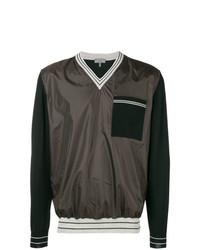Lanvin V Neck Patch Pocket Crewneck Sweatshirt